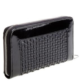 Portafoglio da donna dal design intrecciato bata, nero, 941-6132 - 13