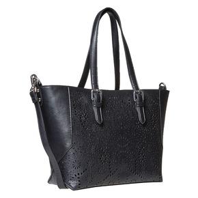 Borsetta in stile Shopping bata, nero, 961-6799 - 13