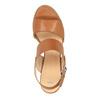 Sandali di pelle con tacco ampio bata, marrone, 664-3205 - 19