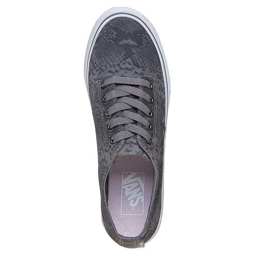 Sneakers in pelle da donna con motivo di serpente vans, grigio, 503-2311 - 19