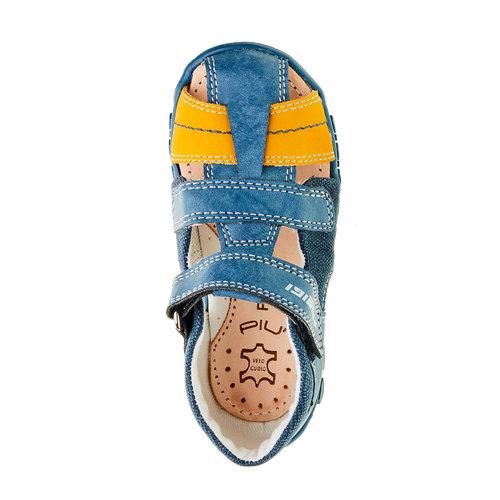 Sandali da ragazzo con chiusura a velcro primigi, blu, 111-9139 - 19