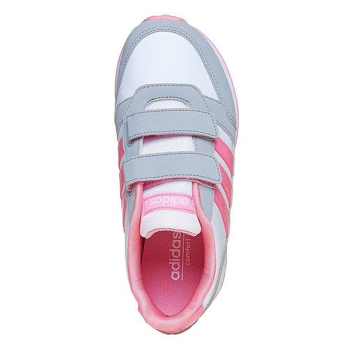 Sneakers rosa da ragazza adidas, bianco, 301-1113 - 19