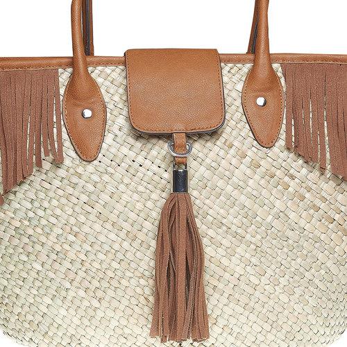 Borsetta Shopper con frange bata, marrone, 969-3449 - 17