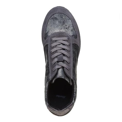 Sneakers urbane in pelle bata, grigio, 543-2143 - 19