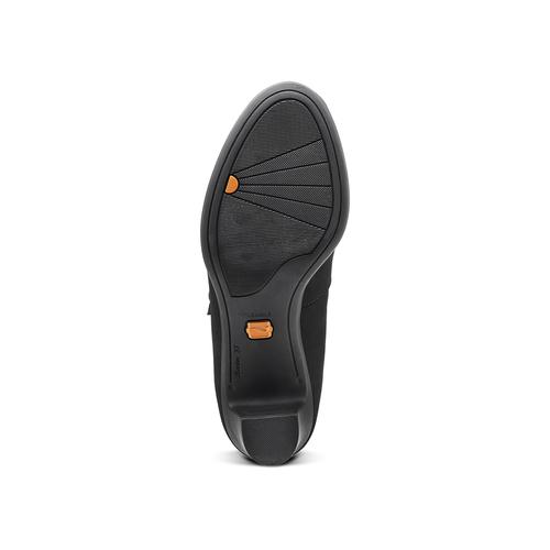 Décolleté in pelle con cinturino sul collo del piede flexible, nero, 623-6220 - 17