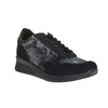 Sneakers da donna con motivo metallizzato bata, nero, 543-6143 - 13