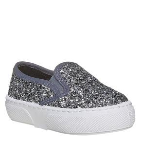 Slip-on da bambina con glitter mini-b, grigio, 229-2116 - 13