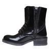 Scarpe da donna alla caviglia con lacci bata, nero, 591-6198 - 19