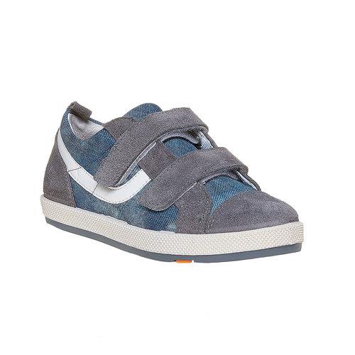 Sneakers da bambino con chiusure a velcro flexible, grigio, 311-2234 - 13