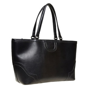 Borsetta in stile Shopper bata, nero, 961-6878 - 13