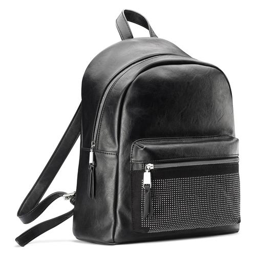 Zaino con borchie in metallo bata, nero, 961-6855 - 13