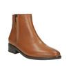 Scarpe di pelle alla caviglia con cerniera bata, marrone, 594-3518 - 13