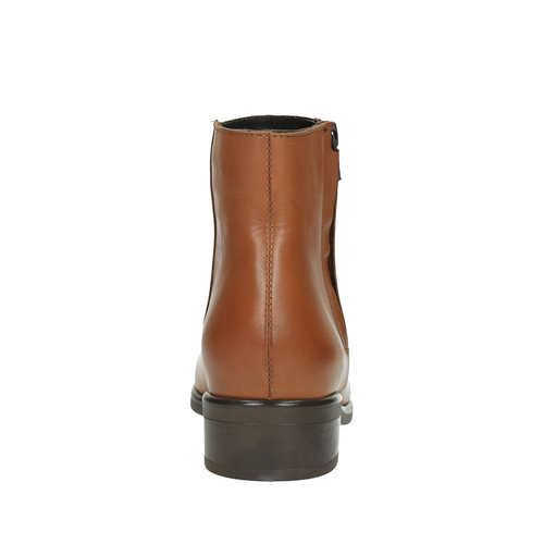 Scarpe di pelle alla caviglia con cerniera bata, marrone, 594-3518 - 17