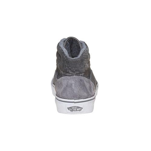 Sneakers alla caviglia in pelle da donna con motivo di serpente vans, grigio, 503-2312 - 17