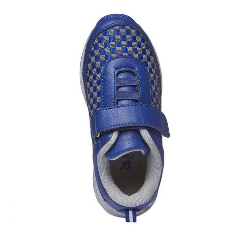 Sneakers da bambino con chiusura a velcro mini-b, viola, 211-9119 - 19