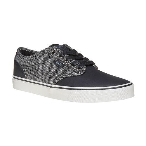 Sneakers casual da uomo vans, nero, 801-6504 - 13