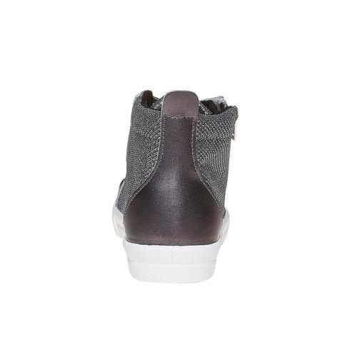 Sneakers dorate alla caviglia north-star, argento, 329-2236 - 17