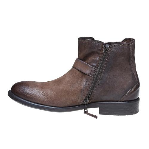 Scarpe da uomo alla caviglia con fibbia bata, marrone, 894-4482 - 19