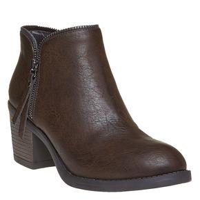 Scarpe da donna alla caviglia bata, marrone, 691-4223 - 13