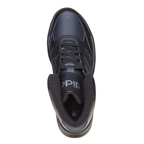 Sneakers nere da uomo alla caviglia adidas, nero, 801-6187 - 19