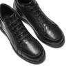 Sneakers di pelle nera flexible, nero, 844-6205 - 26