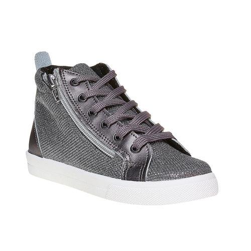 Sneakers dorate alla caviglia north-star, argento, 329-2236 - 13