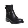 Stivaletti alla caviglia in pelle con fibbie bata, nero, 594-6112 - 13