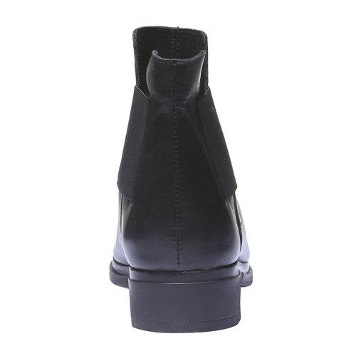Scarpe di pelle in stile Chelsea bata, nero, 594-6178 - 17