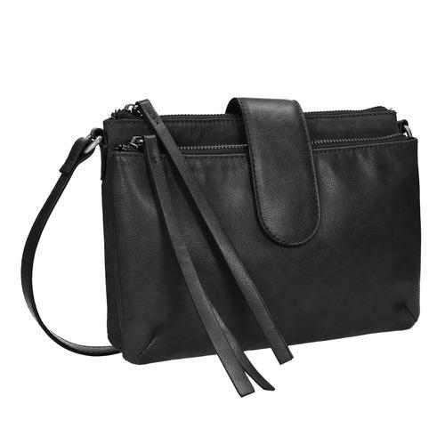 Piccola borsetta da portare sulla spalla bata, nero, 969-6458 - 13