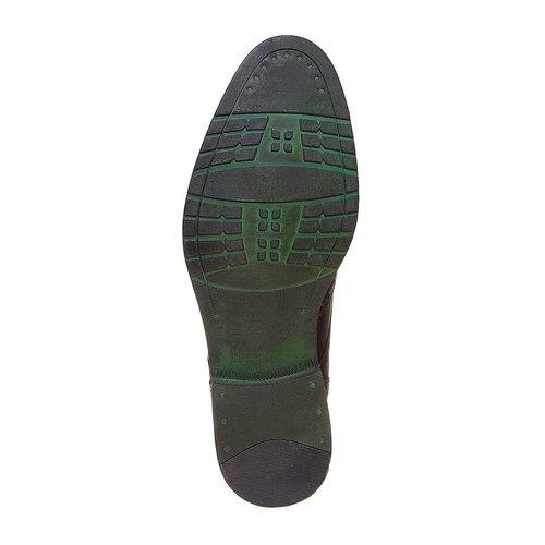 Scarpe basse di pelle con decorazione Brogue bata, marrone, 824-4577 - 26