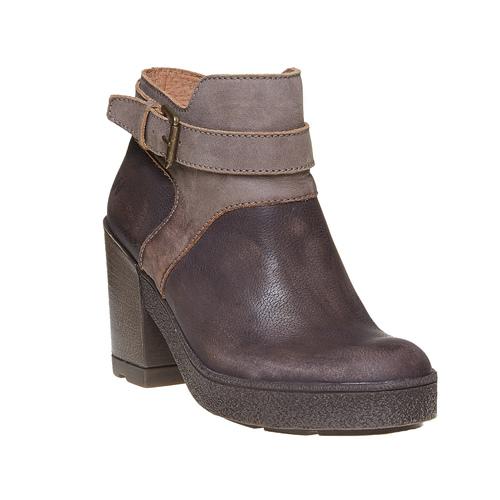 Scarpe da donna di pelle alla caviglia weinbrenner, marrone, 794-4485 - 13