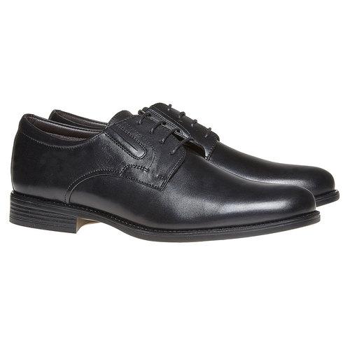 Scarpe basse da uomo Derby in pelle bata, nero, 824-6435 - 26