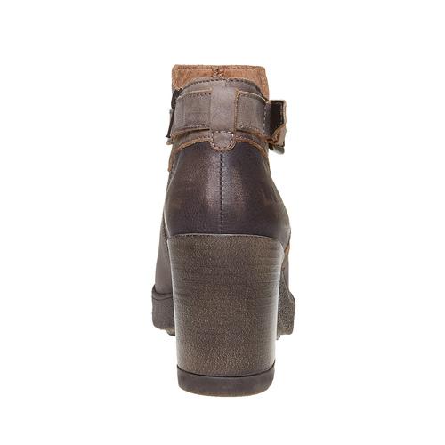 Scarpe da donna di pelle alla caviglia weinbrenner, marrone, 794-4485 - 17