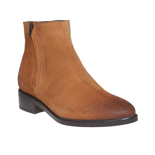 Scarpe di pelle alla caviglia bata, marrone, 593-3522 - 13