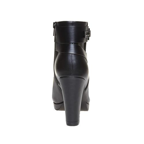 Stivaletti da donna alla caviglia bata, nero, 791-6302 - 17