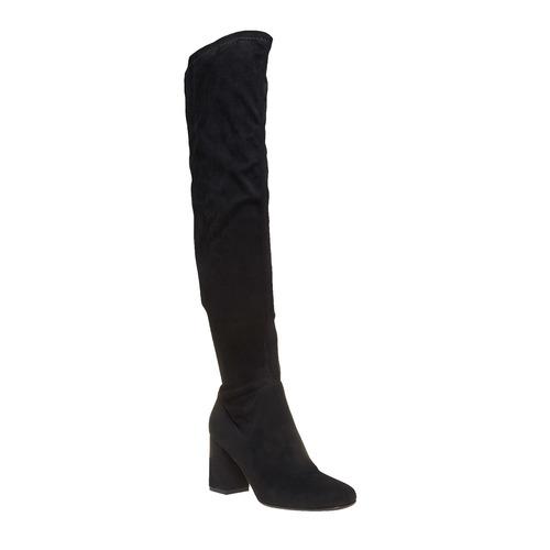 Stivali da donna sopra il ginocchio bata, nero, 799-6504 - 13