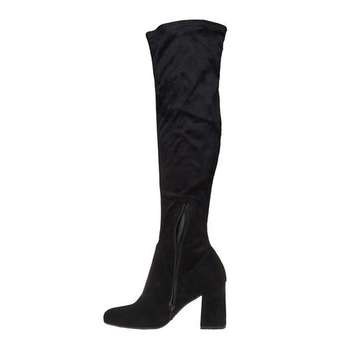 Stivali da donna sopra il ginocchio bata, nero, 799-6504 - 19