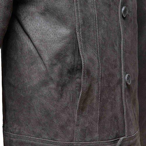 Giacca da uomo con colletto bata, grigio, 973-2110 - 16
