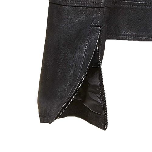 Giacca da donna in pelle con colletto bata, nero, 973-6107 - 16
