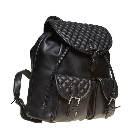 Zaino elegante con cuciture bata, nero, 961-6607 - 13