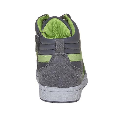 Sneakers da bambino alla caviglia mini-b, grigio, 311-2232 - 17