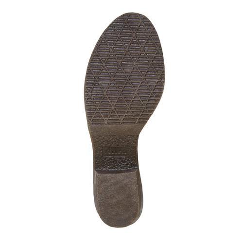 Scarpe da donna in pelle alla caviglia bata, marrone, 693-3381 - 26