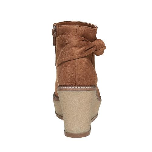Scarpe alla caviglia con plateau alto bata, marrone, 799-3200 - 17