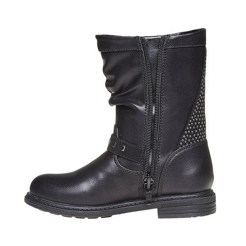 Stivali da ragazza con strass mini-b, nero, 291-6158 - 19