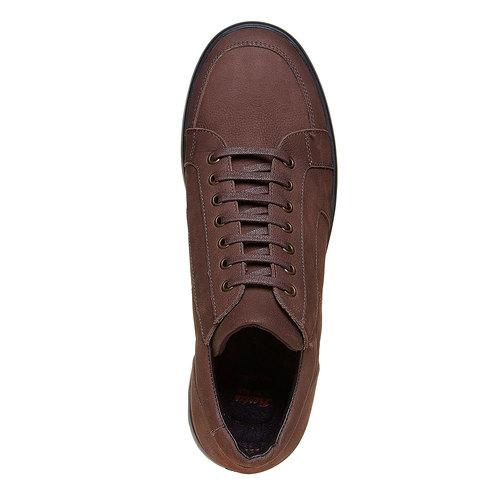 Sneakers da uomo in pelle flexible, marrone, 846-4205 - 19