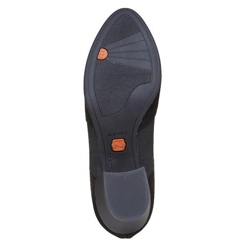 Scarpe basse di pelle con tacco flexible, nero, 613-6111 - 26