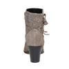Stivaletti di pelle con tacco alto flexible, grigio, 693-2357 - 17