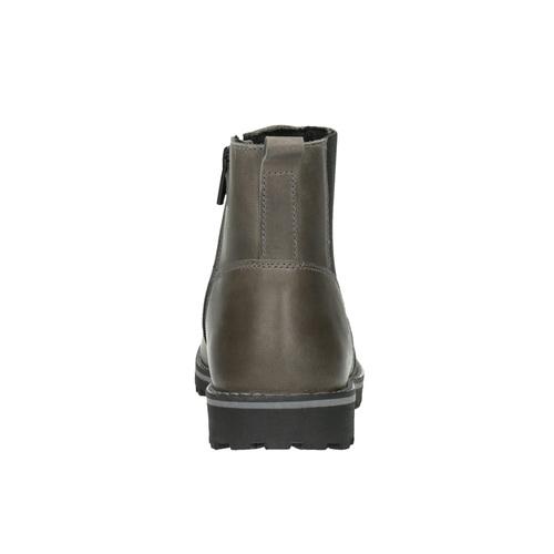 Scarpe in pelle sopra la caviglia da bambino mini-b, grigio, 394-2316 - 17