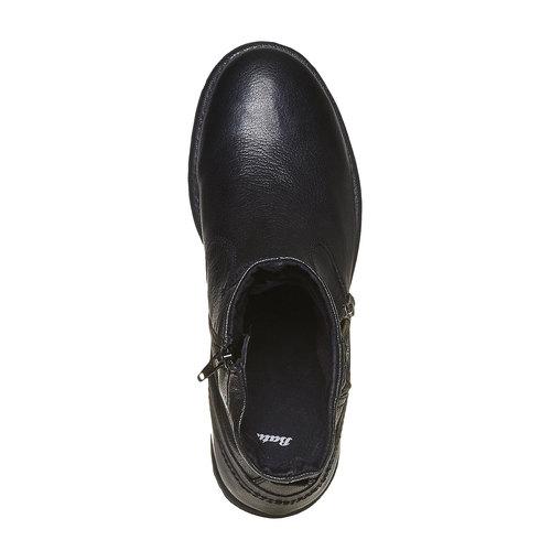 Scarpe in pelle alla caviglia bata, nero, 894-6311 - 19