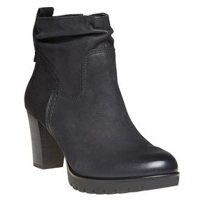 Scarpe di pelle sopra la caviglia bata, nero, 796-6310 - 13